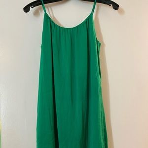 New silk look (polyester though) cute dress. S.